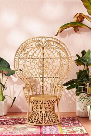 "Ornate Rattan Peacock Chair ""Plumage"""