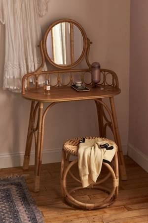 "Rattan Vanity Desk ""Caroline"""
