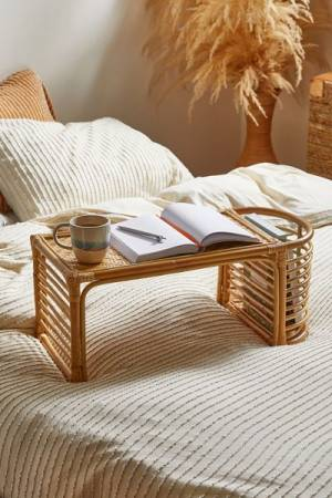 "Rattan Bamboo Bed Tray ""Laurie"""