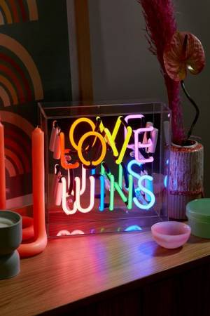 "Neon Box Light ""Love Wins"""