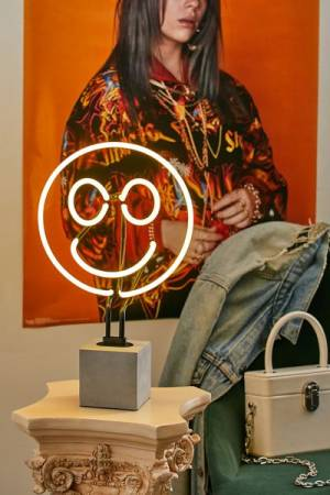 "Neon Table Lamp ""Happy Face"""