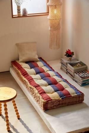 "Rohini Daybed Cushion ""Kantha"""