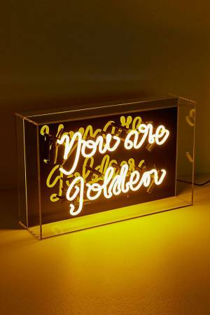 """Neon Light Sign """"You Are Golden"""""""