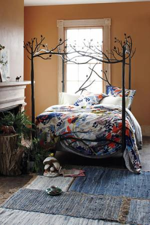 Stone County Ironworks Black Forest Canopy Bed