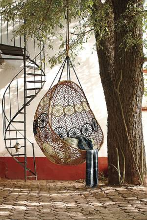 Knotted Melati Neutral Motif Hanging Chair