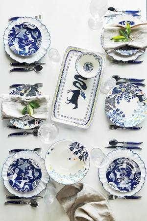 Anthropologie Saga Blue Side Plate