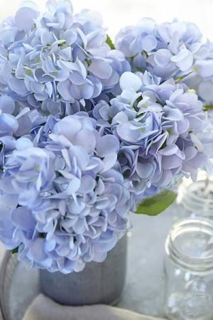 Blue Hydrangea Silk Flowers Bouquet