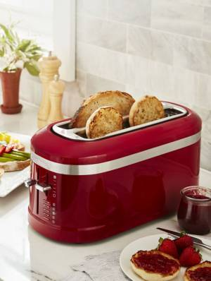 KitchenAid® Red Toaster 4 Slice Long Slot with High-Lift Lever