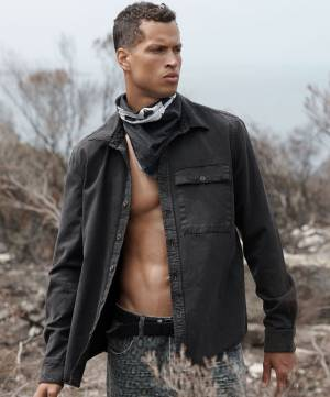 "OneTeaspoon Men's Denim Shirt ""Luxure Black Tencel Soho"""