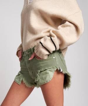 """OneTeaspoon Denim Shorts """"Super Khaki Rollers"""""""
