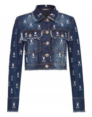 """Philipp Plein Denim Jacket """"PLAYBOY"""" Women's Collection"""