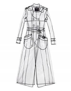 """Philipp Plein Women's PVC Trench Coat """"SIGNATURE"""" Transparent"""