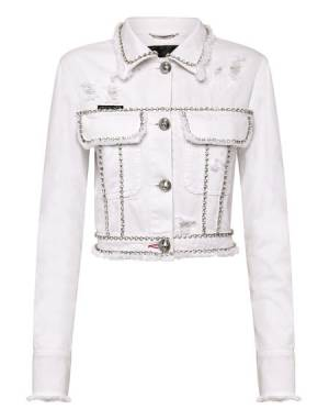 "Philipp Plein Denim Jacket ""CRYSTAL"" Women's Clothing"