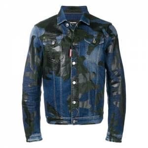 """Dsquared2 Men's Denim Jacket """"Camouflage"""""""