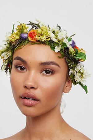 "Rock N Rose Flower Crown ""Cambridge Meadow"" Boho Hair"