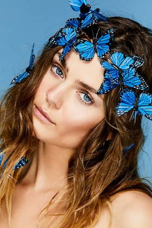 Wild & Free Jewelry Free People Blue Butterflies Crown Set