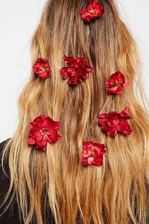 "Rock N Rose Flower Hair Bobby Pins ""Franny"""