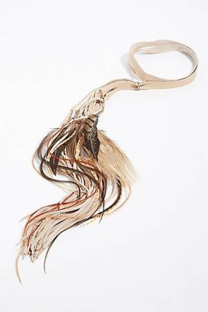Ruby Feathers Boho Fringe Headband