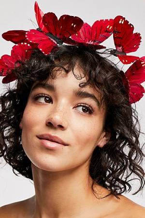 "Viva Delfina Butterflies Crown ""Flutter"" Festival Headband"