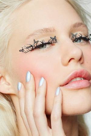 EMILYSTORES Deers And Butterfly Black Paper Lashes False Eyelashes