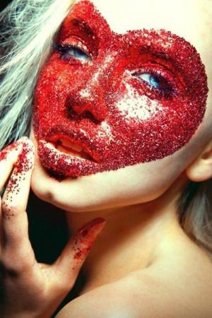 Stargazer Face Body Red Glitter Gel