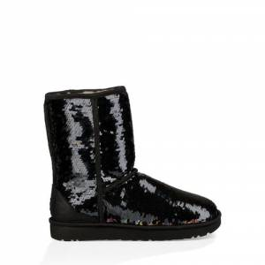 UGG Women's Classic Short Sequin Boot Sheepskin