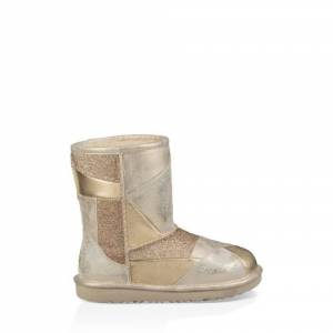 UGG Kids' Classic II Short Patchwork Boot Leather