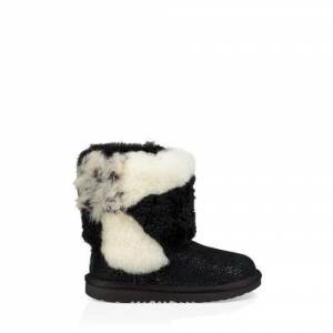 UGG Toddlers' Classic Short Patchwork Fluff Boot Sheepskin