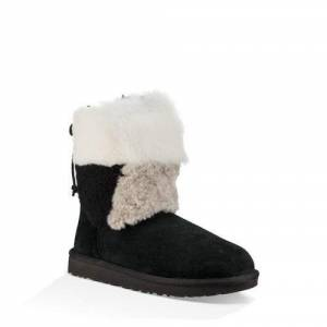 UGG Women's Classic Short Patchwork Fluff Boot Suede