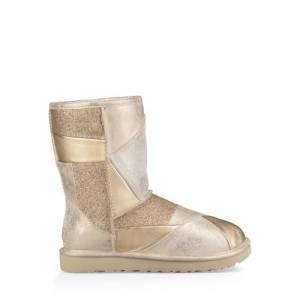 UGG Women's Classic Glitter Patchwork Boot Fleece