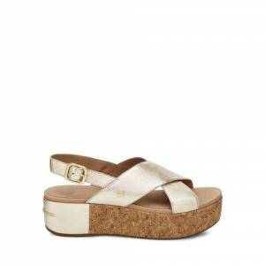 UGG Women's Shoshana Metallic Sandal Leather