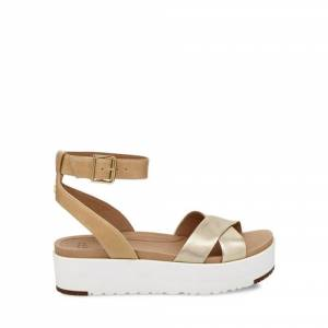 UGG Women's Tipton Metallic Sandal Leather