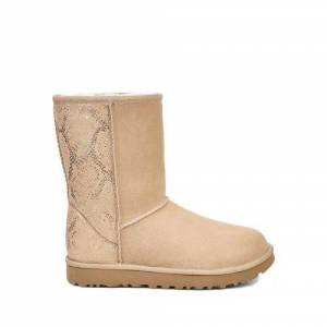 UGG Women's Classic Short Metallic Snake Boot Suede