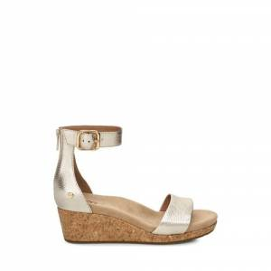 UGG Women's Zoe II Metallic Wedge Leather