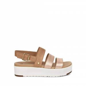 UGG Women's Braelynn Metallic Sandal Leather