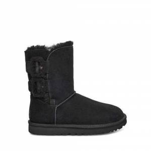 UGG Women's Bailey Fluff Buckle Boot Suede
