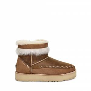 UGG Women's Fluff Punk Boot Sheepskin