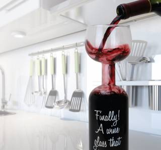 Ultimate Wine Bottle Glass