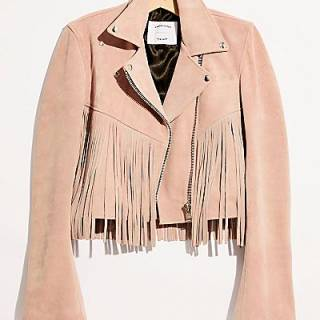 "Understated Leather Jacket ""Fringe Mercy"""