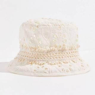 "Anna Sui Bucket Hat ""Crochet & Eyelet Lace Florets"""