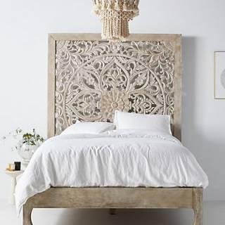 """Handcarved Lombok Bed """"Boho Furniture"""""""