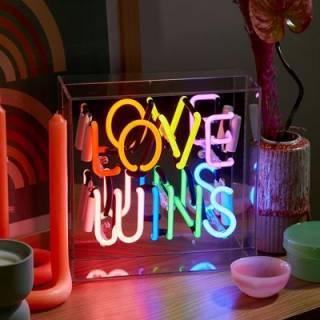 "Neon Box Light ""Love Wins"""