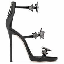 Giuseppe Zanotti Women Sandals HARMONY STAR Black Patent