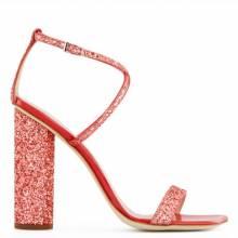 "Giuseppe Zanotti Sandals ""Red Tara Glitter"""