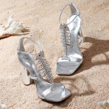 "Giuseppe Zanotti Sandals ""Silver Slim"""