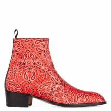 "Giuseppe Zanotti Men's Boots ""Red Sheldon Paisly"""