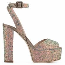 Giuseppe Zanotti Sandals - BETTY GLITTER - Grey Glitter Women's Clog