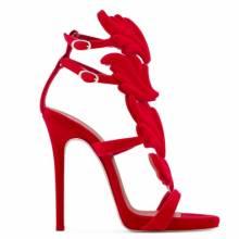 """Giuseppe Zanotti Women's Sandals """"CRUEL"""" Red High Heels"""