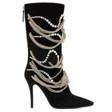 "Giuseppe Zanotti Women's Boots ""SHEENA"" Chains & Crystals"