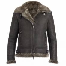 Giuseppe Zanotti - ROBIN - Brown Ram Men's Jacket With Fur Inserts